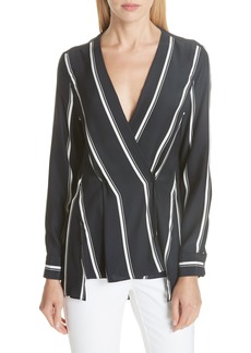 rag & bone Debbie Stripe Silk Blouse