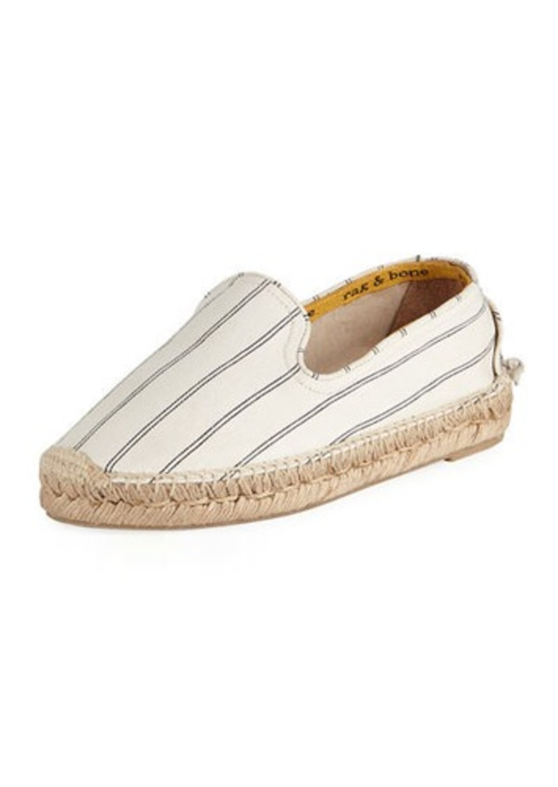 Rag & Bone Del Rey Striped Slip-On Espadrilles