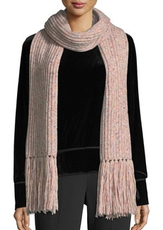 Rag & Bone Devin Boucle-Knit Scarf w/ Fringed Edges