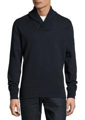 Rag & Bone Devin Solid Shawl-Collar Cotton Sweater