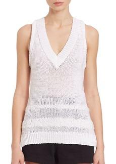 Rag & Bone Dina Knit V-Neck Shell