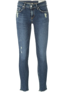 Rag & Bone distressed cropped jeans - Blue