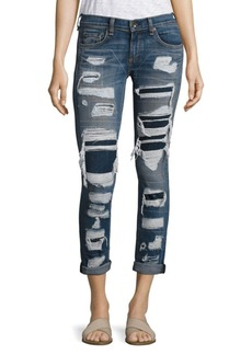 Rag & Bone Distressed Cuffed Boyfriend Jeans