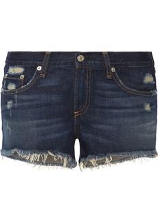 rag & bone Distressed cut-off denim shorts