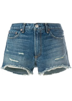 Rag & Bone distressed denim shorts - Blue