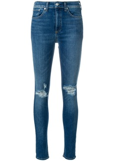 Rag & Bone distressed skinny jeans - Blue