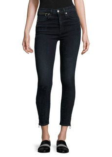 Rag & Bone Dive High-Rise Ankle Zip Capri Jeans