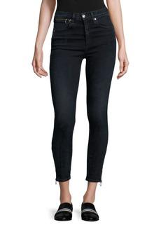 Rag & Bone Dive High-Rise Ankle Zip Capri Jeans
