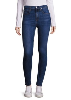 Rag & Bone Dive High-Rise Shadow Pocket Skinny Jeans