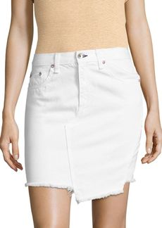 Rag & Bone Dive High-Waist Asymmetrical Denim Skirt