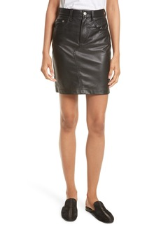 rag & bone Dive Leather Pencil Skirt