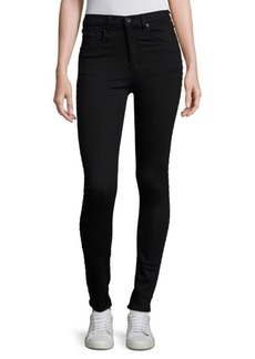 Rag & Bone Dive Super High Rise Grommet Detail Jeans