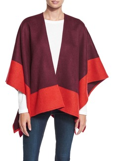 Rag & Bone Double-Face Colorblock Merino Wool Wrap
