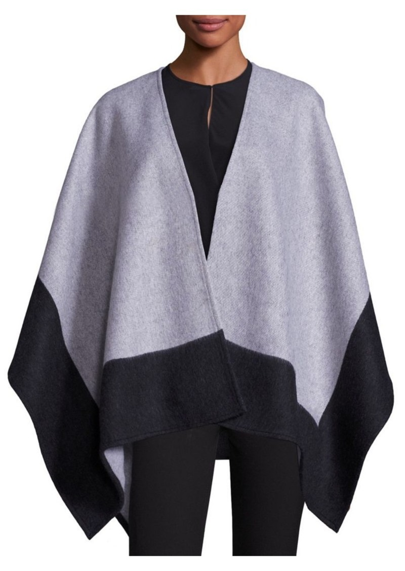 75ab34424 Rag & Bone Rag & Bone Double-Faced Merino Wool Reversible Poncho ...