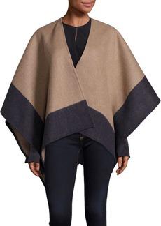 Rag & Bone Double-Faced Merino Wool Reversible Poncho
