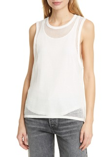 rag & bone Double Layer Mesh Tank