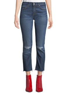Rag & Bone Dre Ankle Straight-Leg Jeans w/ Raw-Edge