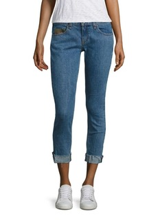 Rag & Bone Dre Boyfriend Light Wash Crop Jeans