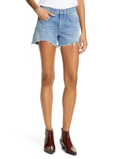 rag & bone Dre Distressed Denim Shorts (Clean Bishop)