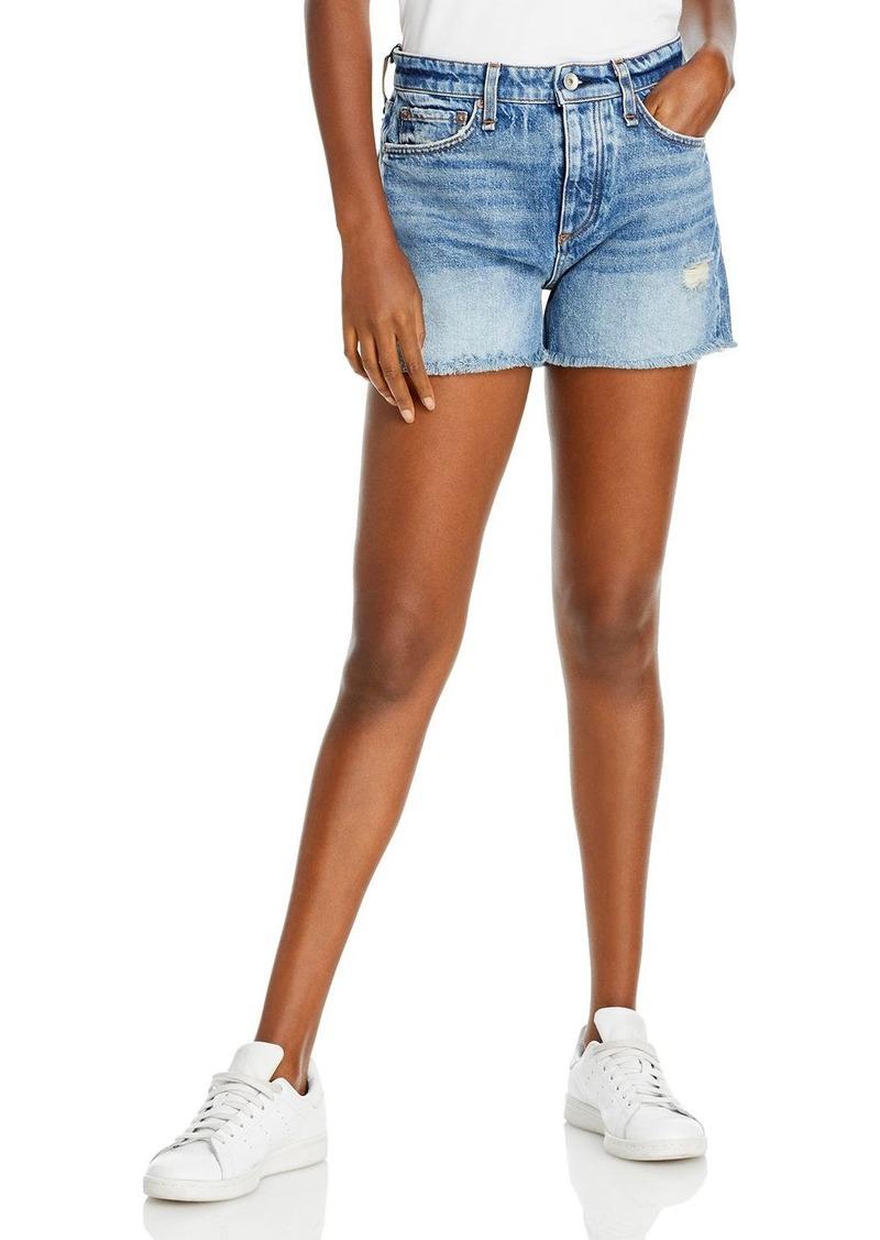 rag & bone Dre Distressed Denim Shorts in Norwalk