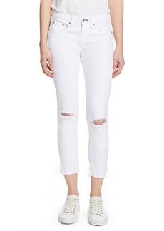 rag & bone Dre Ripped Raw Hem Crop Skinny Jeans