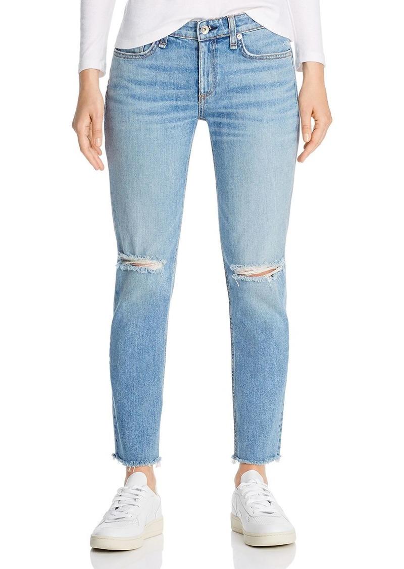 rag & bone Dre Slim Boyfriend Jeans in Sonny With Holes