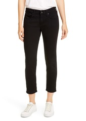 rag & bone Dre Slim Crop Boyfriend Jeans (No Fade Black)