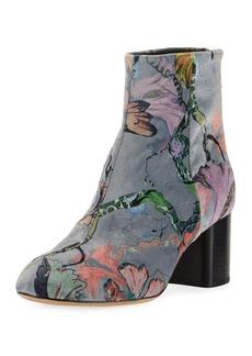 Rag & Bone Drea Floral Velvet Ankle Boots