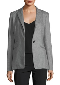 Rag & Bone Duke Wool-Blend One-Button Tailored Blazer