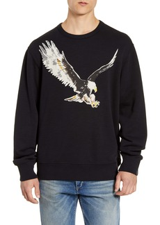 rag & bone Eagle Graphic Crewneck Sweatshirt