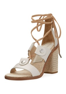 Rag & Bone Eden Lace-Up Raffia Sandal