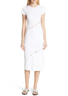 rag & bone Eden Slash Detail Midi Dress