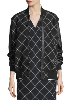 Rag & Bone Edith Windowpane Varsity Jacket