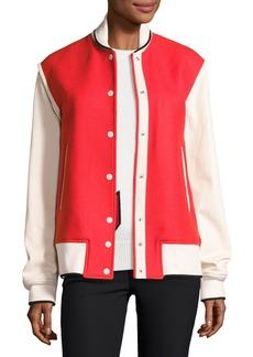 Rag & Bone Edith Wool-Blend Colorblock Varsity Jacket