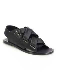 Rag & Bone Elda Leather Lace-Up Slingback Sandals
