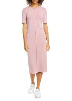 rag & bone Elina Ribbed Cotton Blend Midi Dress