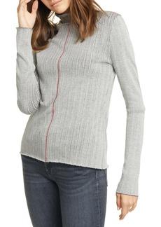 rag & bone Elina Ribbed Cotton Blend Turtleneck Sweater