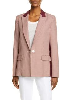 rag & bone Elizabeth Houndstooth Cotton & Wool Blazer