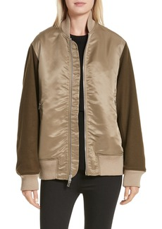 rag & bone Elle Mixed Media Bomber Jacket