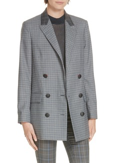 rag & bone Ellie Check Wool Blend Blazer