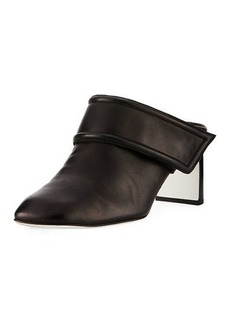 Rag & Bone Elliot Mid-Heel Leather Mule