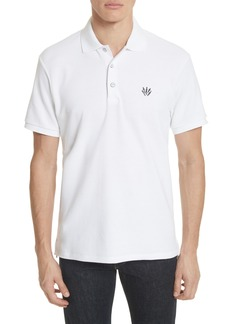 rag & bone Embroidered Dagger Piqué Polo