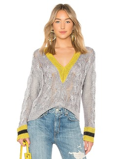Rag & Bone Emma Cropped V Neck Sweater