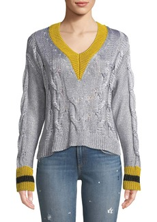 Rag & Bone Emma Cropped V-Neck Sweater
