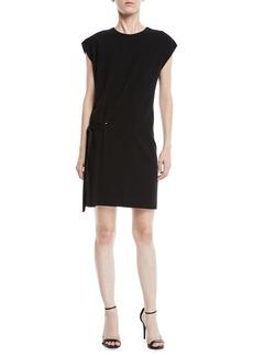 Rag & Bone Etta Side-Tie Crewneck Short Dress