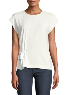 Rag & Bone Etta Side-Tie Crewneck Top