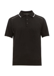 Rag & Bone Evens knit cotton-blend polo shirt