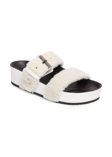 rag & bone Evin Genuine Shearling Slide Sandal (Women)