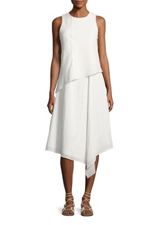 Rag & Bone Fernay Paneled Sleeveless Handkerchief-Hem Midi Dress