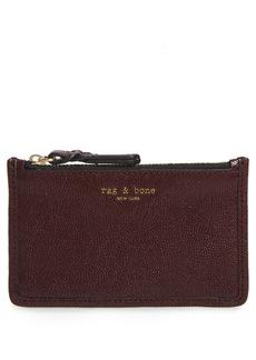 rag & bone Field Leather Zip Card Case